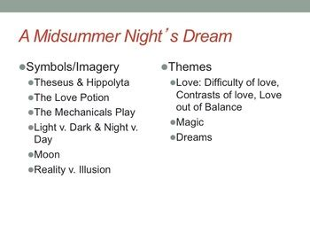 Love In A Midsummer Nights Dream - Essay - 1324 Words